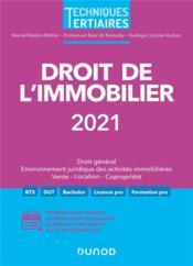 Droit de l'immobilier (édition 2021) - Couverture - Format classique