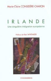 Irlande ; Une Singuliere Integration Europeenne - Intérieur - Format classique