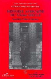 Histoire africaine du xx siècle - Intérieur - Format classique