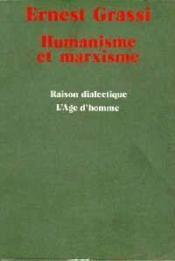 Humanisme Et Marxisme - Couverture - Format classique