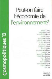 Peut-on faire l'économie de l'environnement? - Intérieur - Format classique