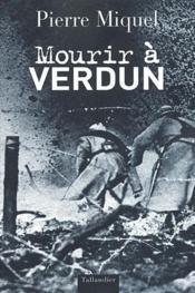 Mourir à Verdun - Couverture - Format classique