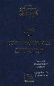 Code de droit canonique t.3 - Couverture - Format classique