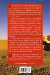 La route de la soie ; dieux, guerriers et marchands - 4ème de couverture - Format classique