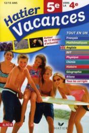 Hatier Vacances De La 5eme Vers La 4eme 12 13 Ans
