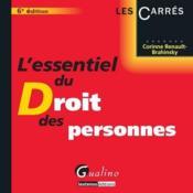 L'essentiel du droit des personnes (6e édition) - Couverture - Format classique