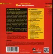 L'essentiel du droit des personnes (6e édition) - 4ème de couverture - Format classique