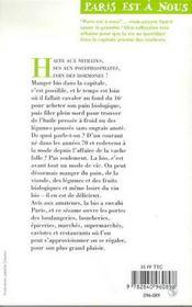Vivre Bio À Paris. Marchés, Boutiques Et Restaurants - 4ème de couverture - Format classique