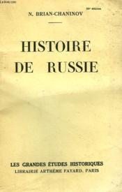 Histoire De Russie. - Couverture - Format classique