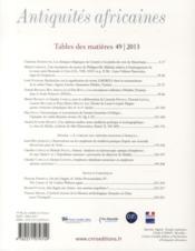 Etudes D'Antiquites Africaines N.49 - 4ème de couverture - Format classique