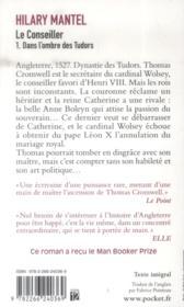 Le conseiller t.1 ; dans l'ombre des Tudors - 4ème de couverture - Format classique
