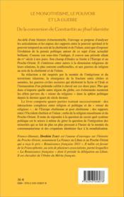 Le monothéisme, le pouvoir et la guerre ; de la conversion de Constantin au jihad islamiste - Couverture - Format classique
