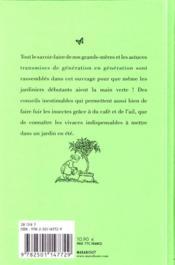 Tout ce que votre grand-mère aurait du vous apprendre au jardin ; 192 pages de miscellanées & petits secrets - 4ème de couverture - Format classique