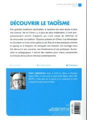 Découvrir le taoïsme ; histoire, courants, fondements et pratiques - 4ème de couverture - Format classique