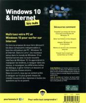 Windows 10 et internet pour les nuls (6e édition) - 4ème de couverture - Format classique