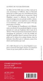Beyrouth 2020 ; journal d'un effondrement - 4ème de couverture - Format classique