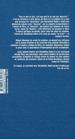 Maximilien Rubel, pour redécouvrir Marx - 4ème de couverture - Format classique