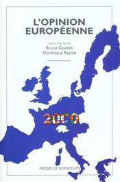 L'opinion européenne 2000 - Intérieur - Format classique