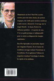 La Magie Blanche T.1 ; Recettes De Sorcieres - 4ème de couverture - Format classique