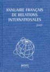 Annuaire francais de relations internationales 2003 - Intérieur - Format classique