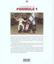 Legende de la formule 1 (la) - 4ème de couverture - Format classique