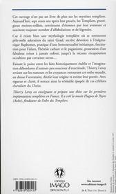 Les templiers ; légendes et histoire - 4ème de couverture - Format classique