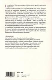 L'idée de révolution : quelle place lui faire au XXI siècle ? - 4ème de couverture - Format classique