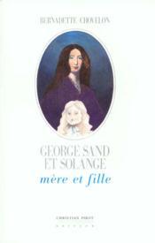 George Sand Et Solange - Couverture - Format classique