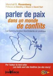 Parler de paix dans un monde de conflits - Couverture - Format classique