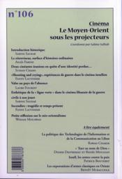 Cahiers De L'Orient N.106 - 4ème de couverture - Format classique