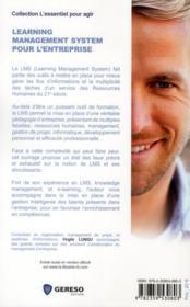Learning management system pour l'entreprise - 4ème de couverture - Format classique