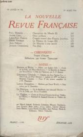 Collection La Nouvelle Revue Francaise N° 198. Deux Prefaces Par Andre Gide/ De Mauriac A Son Oeuvre Par Jean Prevost/ Propos Dalain. - Couverture - Format classique