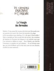 Les grandes énigmes de l'histoire ; le triangle des Bermudes - 4ème de couverture - Format classique