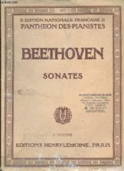Sonates 1er Et 2e Volume. - Couverture - Format classique