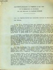 Allocution Prononcee Le Dimanche 22 Mai 1960 - Couverture - Format classique