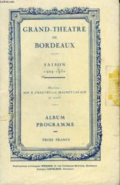 Grand Theatre De Bordeaux - Couverture - Format classique
