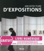 Architecture d'expositions - Couverture - Format classique