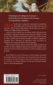 Les enquêtes de Louis Fronsac T.1 ; les ferrets de la reine - 4ème de couverture - Format classique