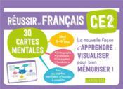 Réussir en français ; CE2 ; 30 cartes mentales - Couverture - Format classique