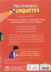 Coffret bibliotheque 3 (tomes 7/8/9) ; mes premieres enquêtes - 4ème de couverture - Format classique