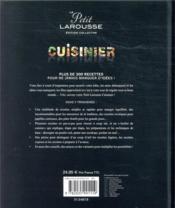 Le petit Larousse cuisinier - 4ème de couverture - Format classique