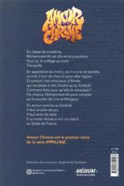 Amour chrome - 4ème de couverture - Format classique