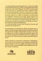 Le roi Farouk : un destin foudroyé - 4ème de couverture - Format classique