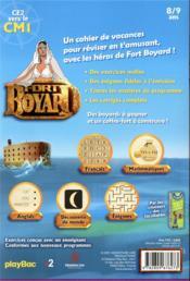 Fort Boyard ; le cahier de vacances ! du CE2 au CM1 (édition 2021) - 4ème de couverture - Format classique