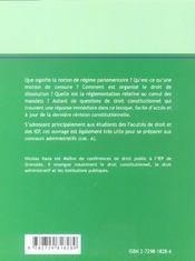 Lexique De Droit Constitutionnel - 4ème de couverture - Format classique