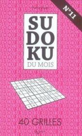 N.11 Sudoku Novembre - Couverture - Format classique