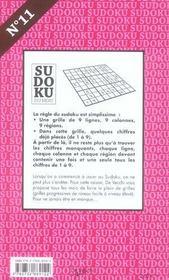 N.11 Sudoku Novembre - 4ème de couverture - Format classique