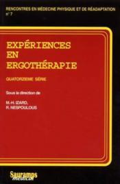 Experiences en ergotherapie quatorzieme serie - Couverture - Format classique