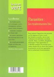 Parasites : les traitements bio - 4ème de couverture - Format classique