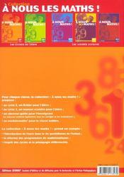 A Nous Les Maths ! ; Cp ; Livre De L'Elève - 4ème de couverture - Format classique